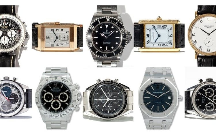 Top 10 Uhrenklassiker, Bilder: Auctionata, All About Watches
