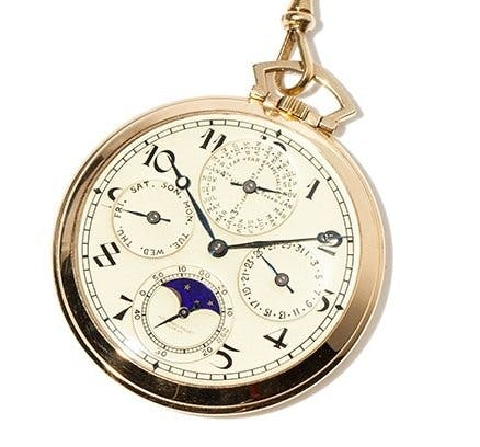 Audemars Piguet Perpetual Calendar Pocket Watch, Image: Auctionata