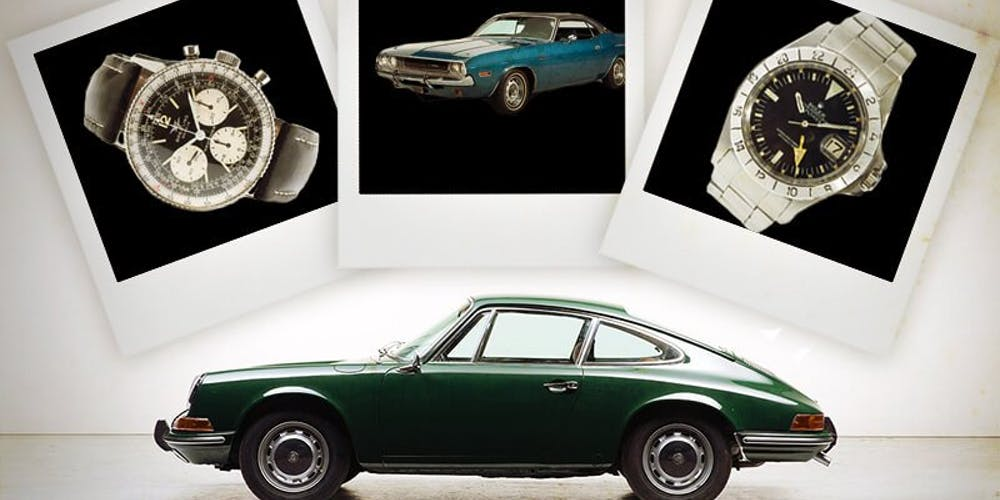 Vintage Cars and Vintage Watches