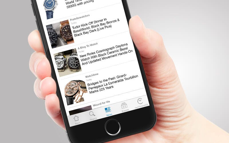 New watch news in the chrono24 iphone app publicscrutiny Image collections