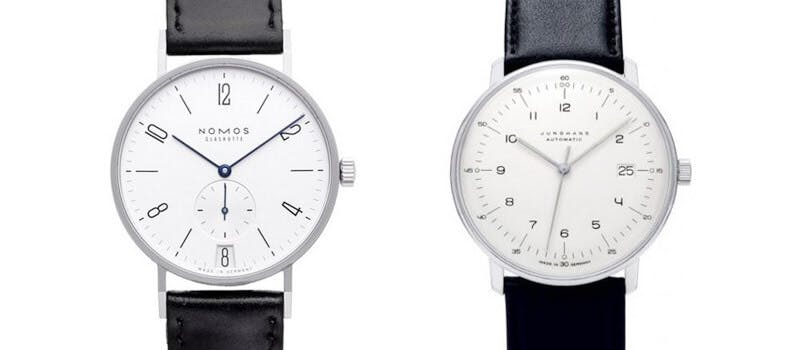 nomos tangente vs junghans max bill. Black Bedroom Furniture Sets. Home Design Ideas