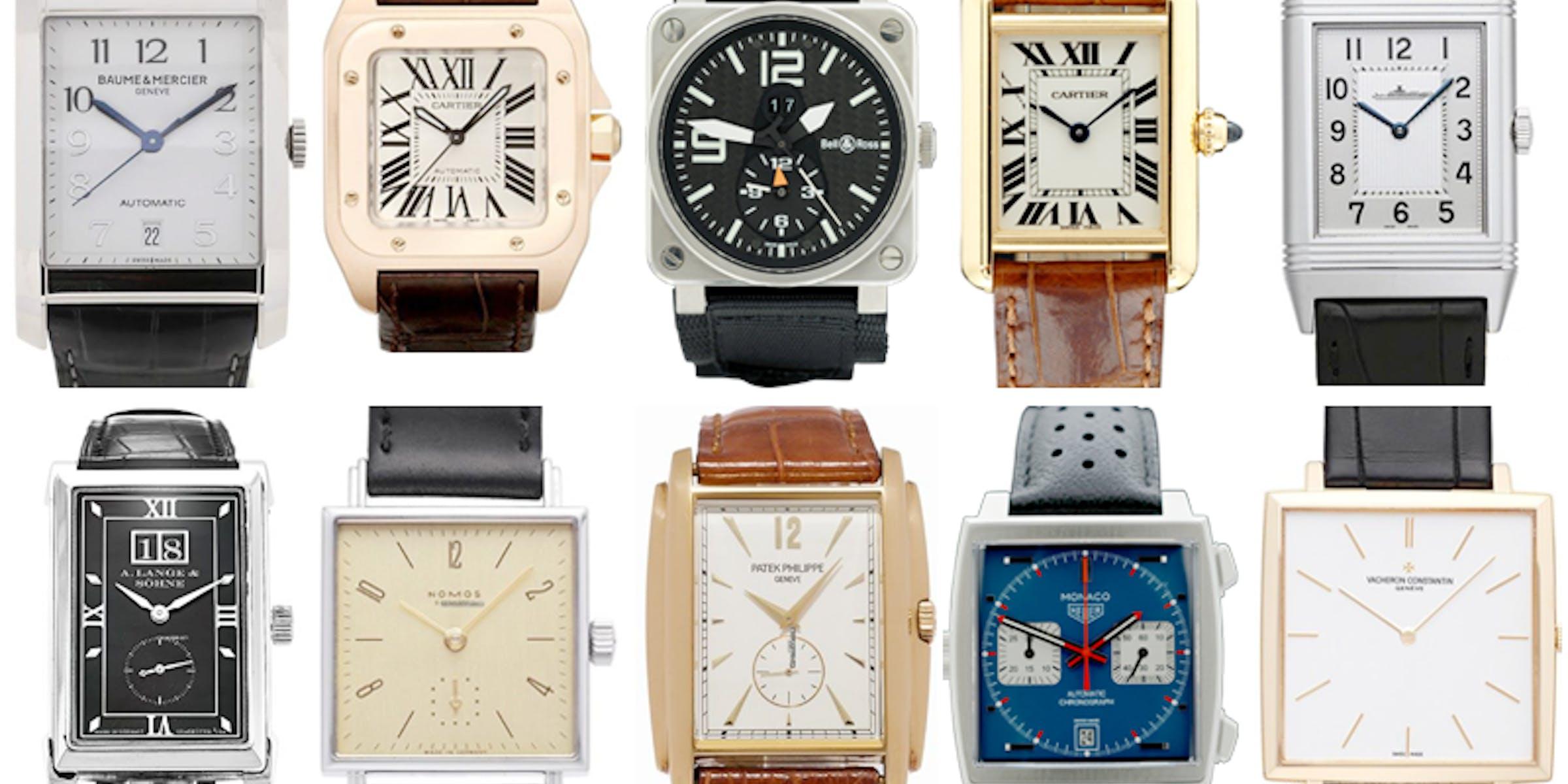 Top 10 Rectangular Watches