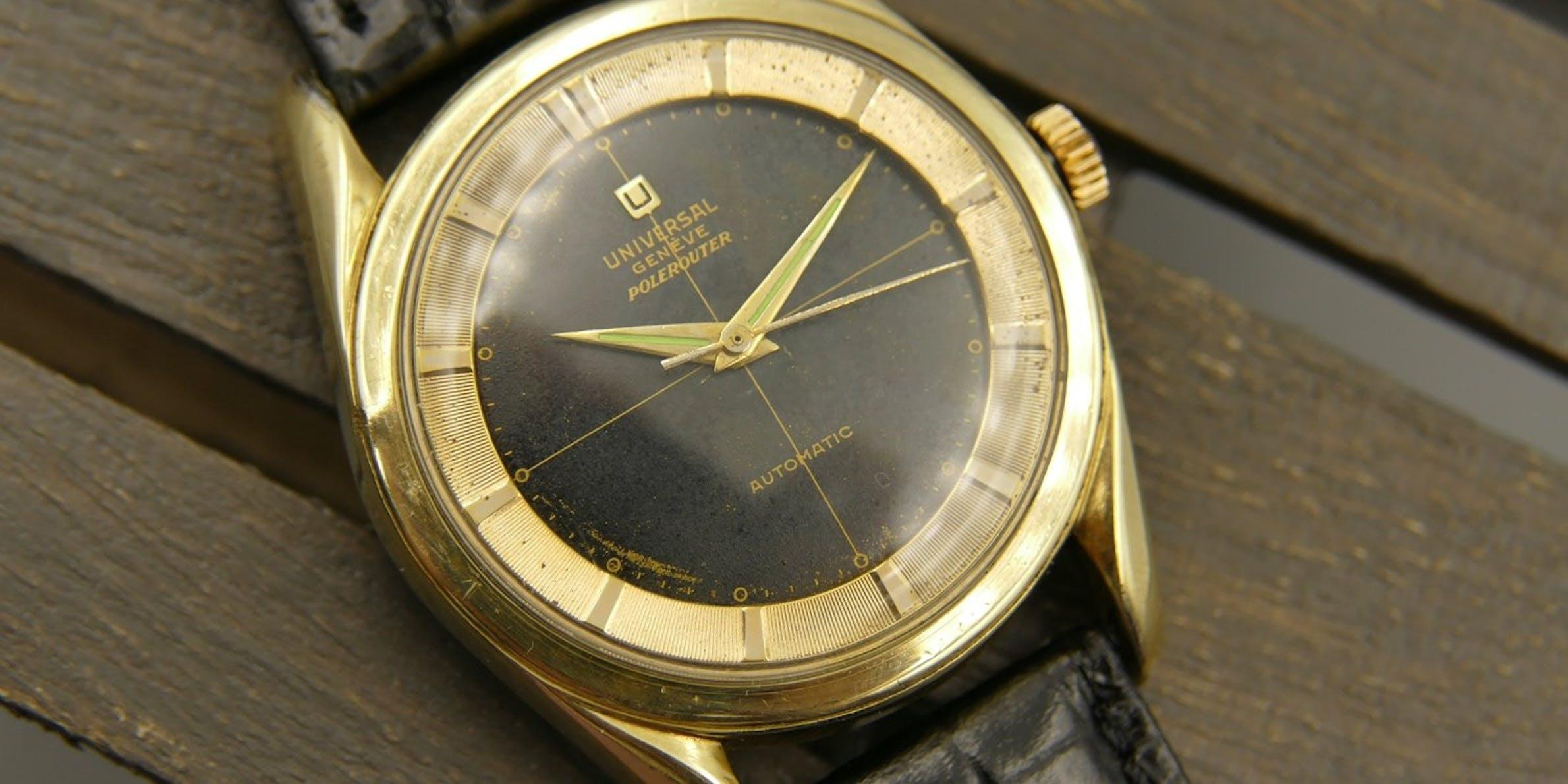 Besondere Vintage-Uhren: Universal Genève Polerouter