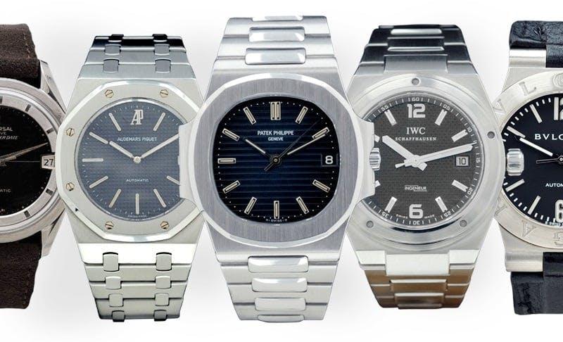 Timepieces designed by legendary watch designer Gérald Genta