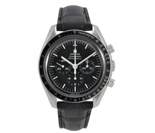 Omega Speedmaster with leather strap
