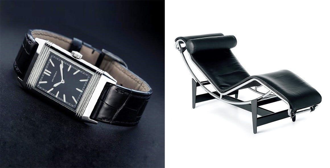 Du corbusier lecoultre l troite relation entre mobilier contemporain et montres de luxe for Mobilier contemporain luxe