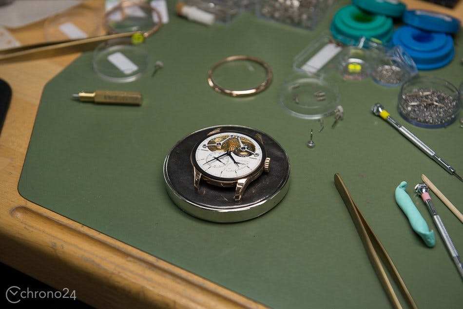 Behind the scenes in a watchmaking atelier