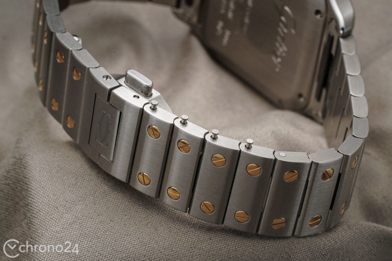 Strap Galore Santos de Cartier Gold and Steel