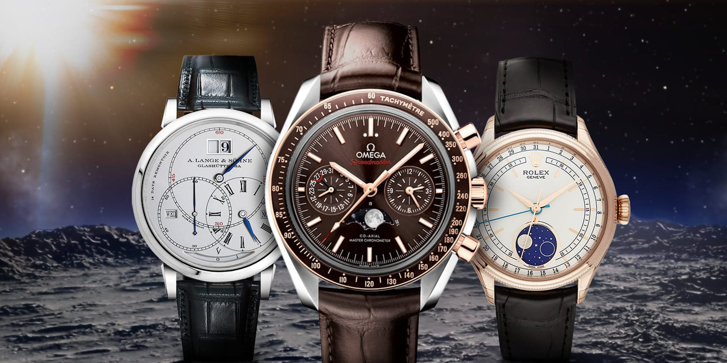 Sun, Moon, and Stars – Watches with Moon Phase Displays