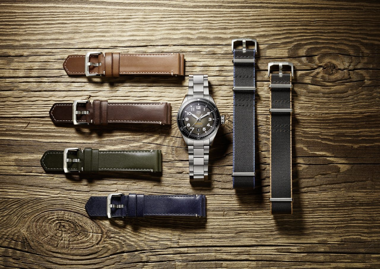 The TAG Heuer Autavia with several different straps