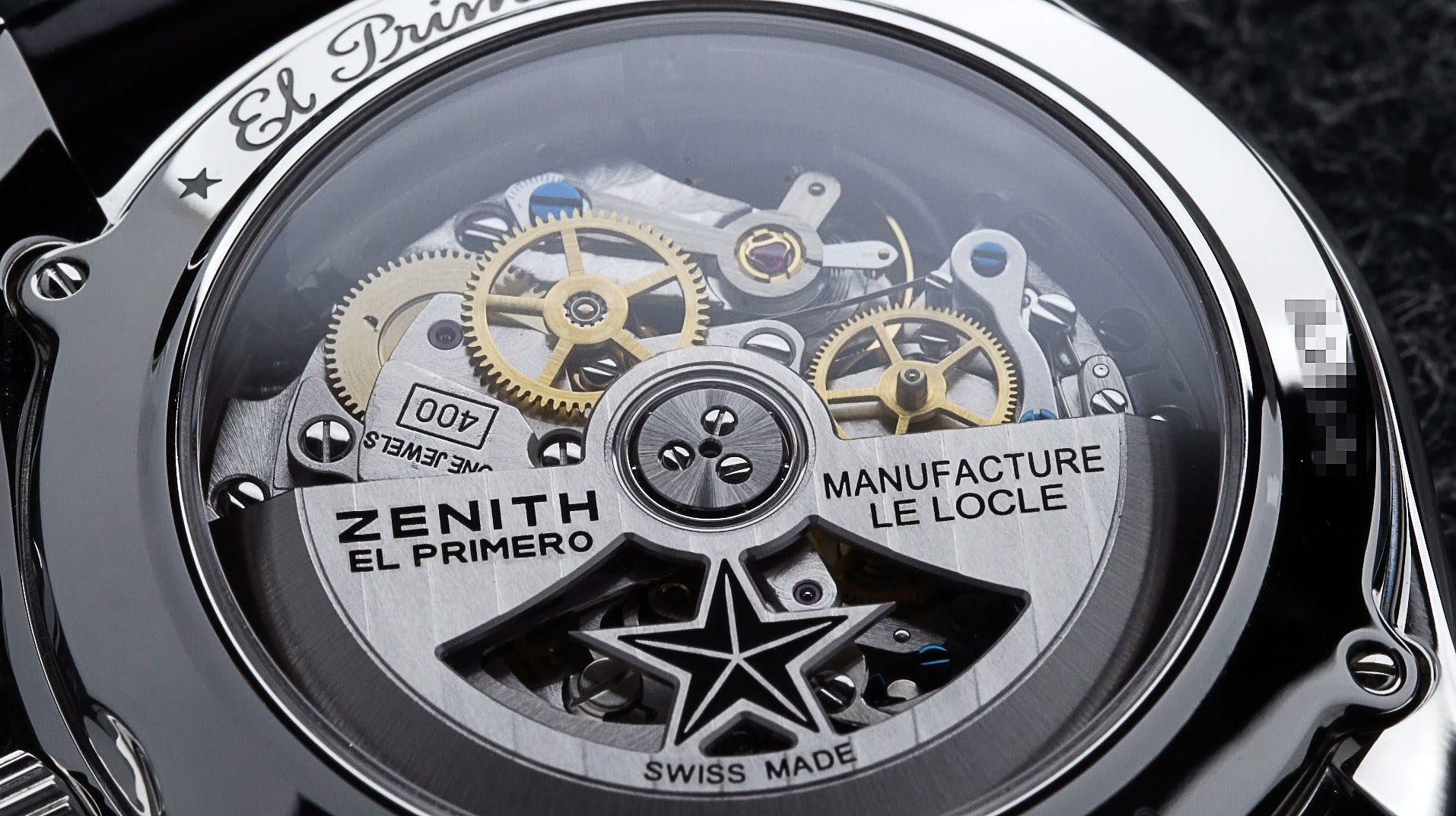 El Primero movement through the sapphire case back