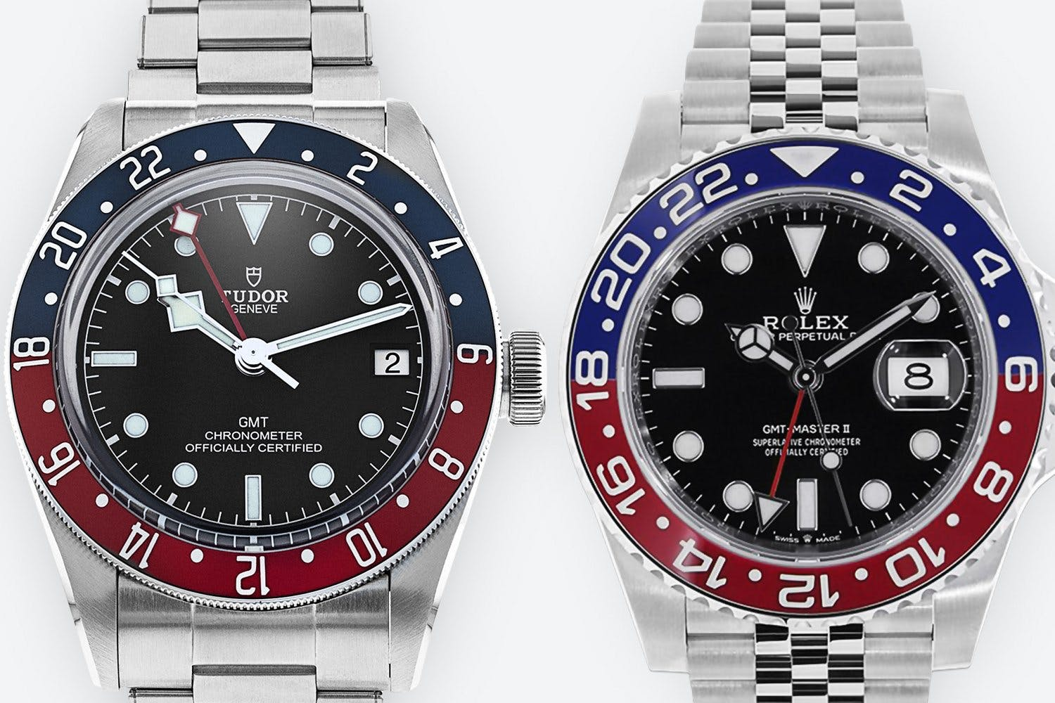 Rolex vs Tudor GMT Close