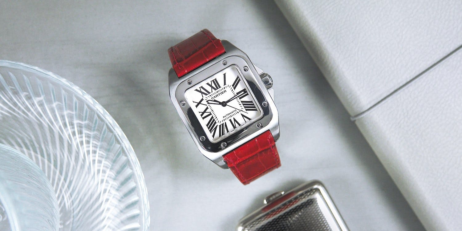 Stylish and Sporty: The Cartier Santos 100