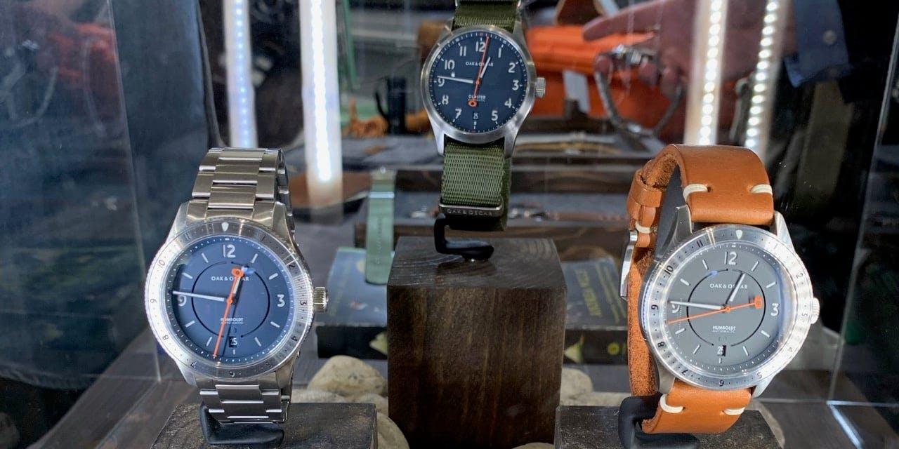 (de izquierda a derecha) Los modelos The Humboldt, The Olmsted y The Burnham en Windup NY