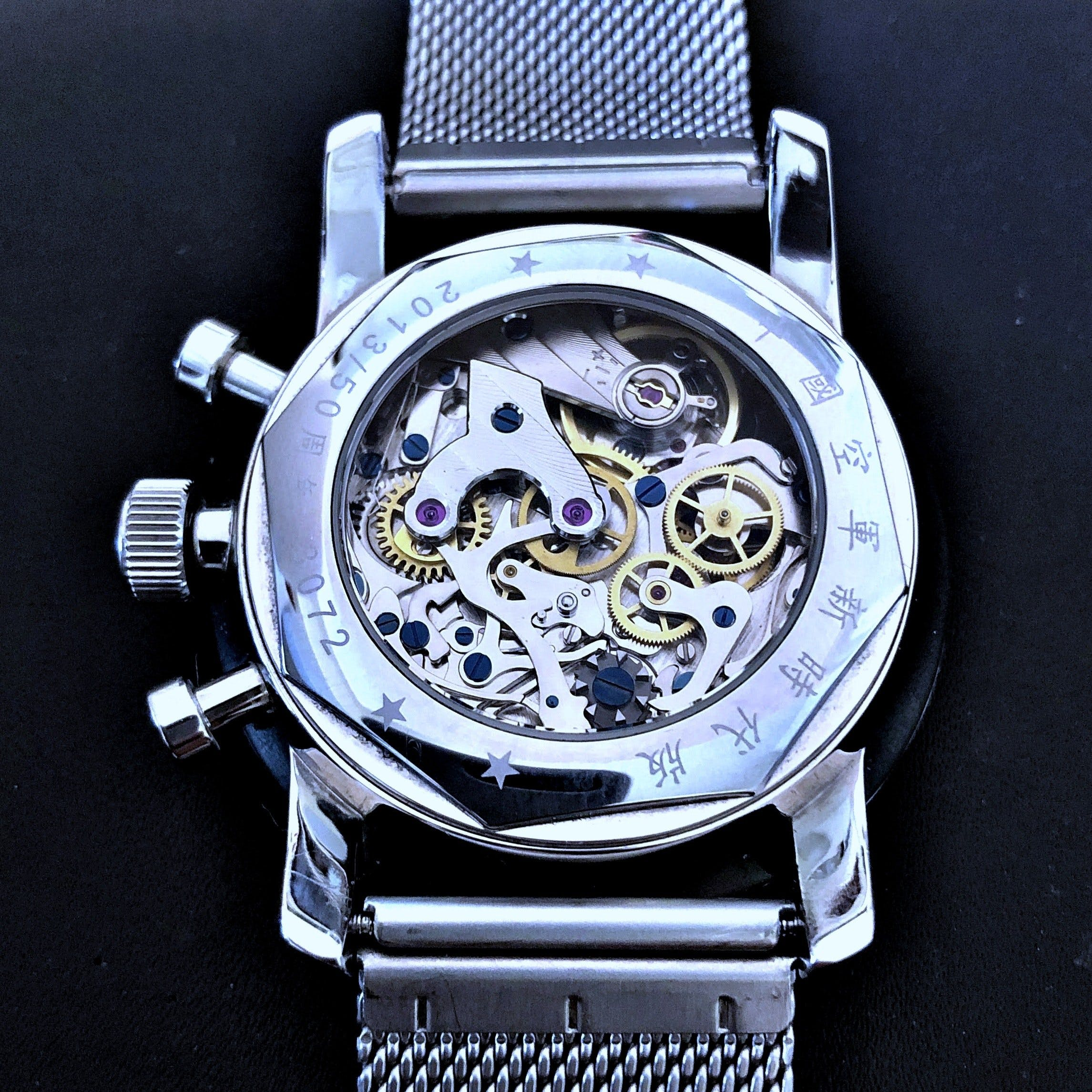 963 Re-Issue Red Star Chronograph mit Kaliber ST1901