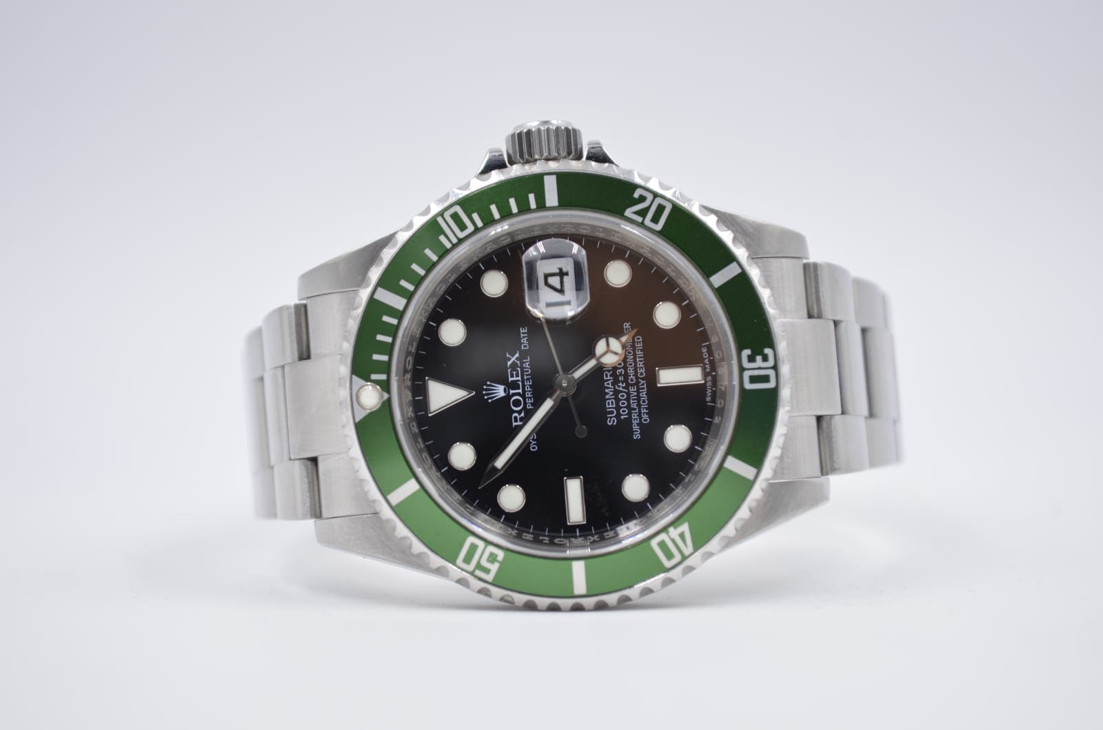 "The green Rolex Submariner, a.k.a. ""The Kermit"""