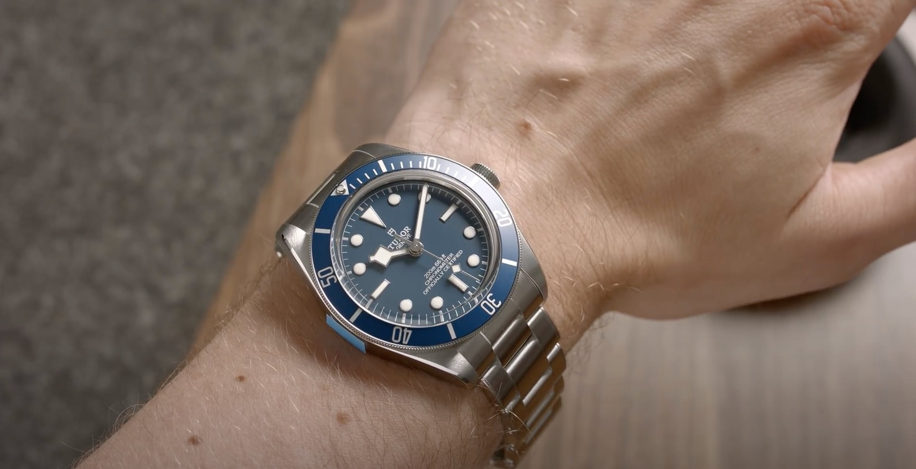 Tudor Black Bay 58 Navy Wristshot, Image: WatchVice