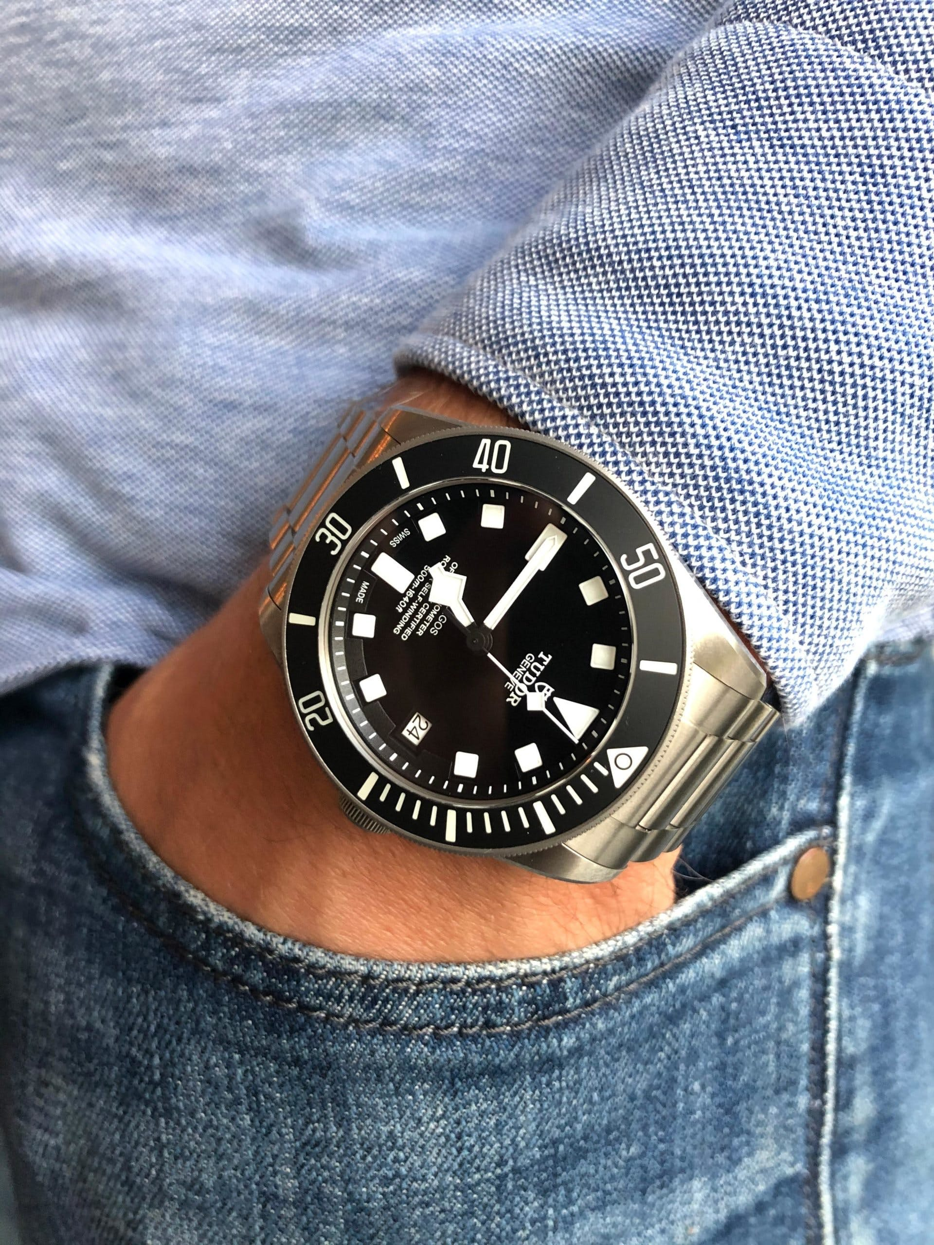 Tudor Pelagos with a black dial