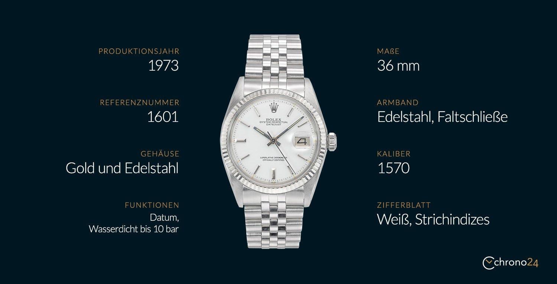 Die Rolex Datejust 1601 im Überblick