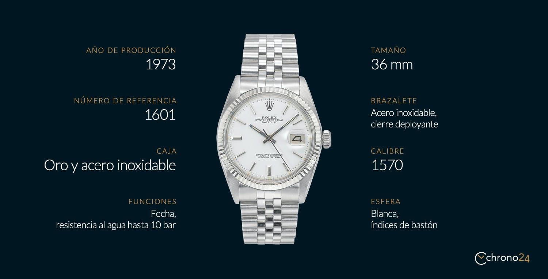 El Rolex Datejust 1601 de un vistazo
