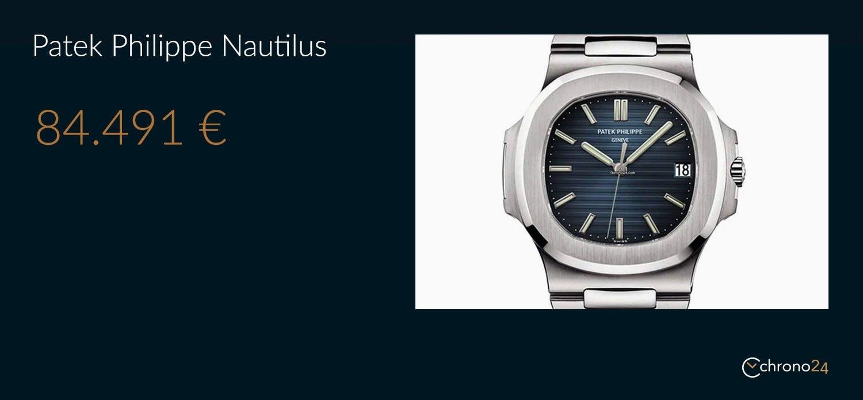 L'attuale valore di mercato del Patek Philippe 5711 secondo la Watch Collection di Chrono24