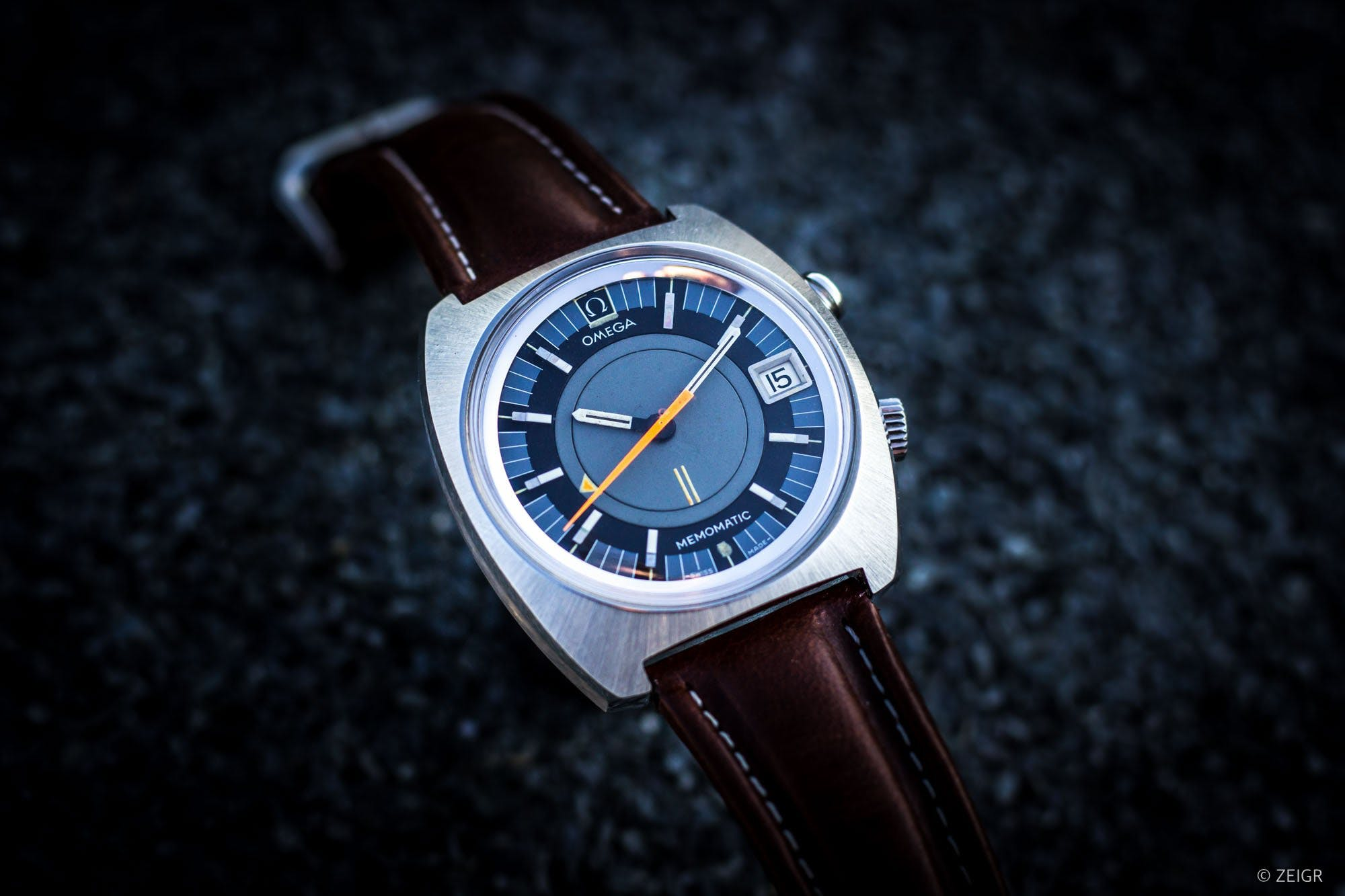 Omega Memomatic alarm watch, Image: Zeigr