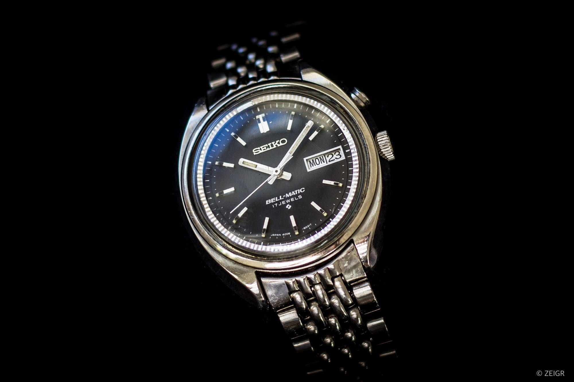 Seiko Bell-Matic with an alarm function