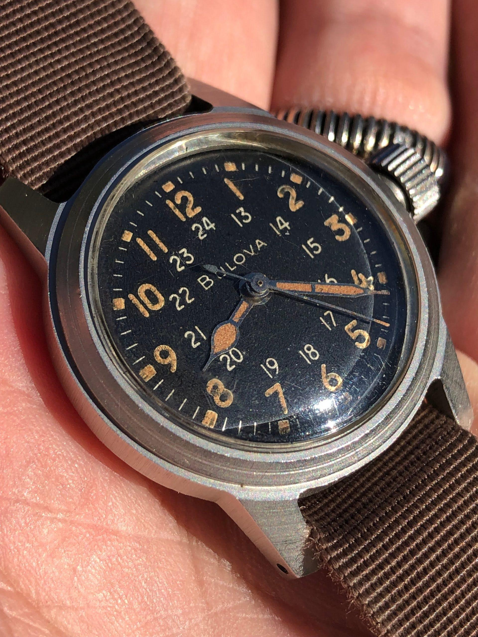 Vintage Bulova Hack Watch