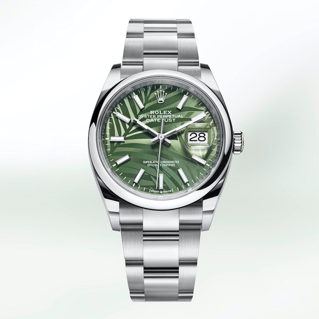 The new palm designs are inspired by tropical rainforests.
