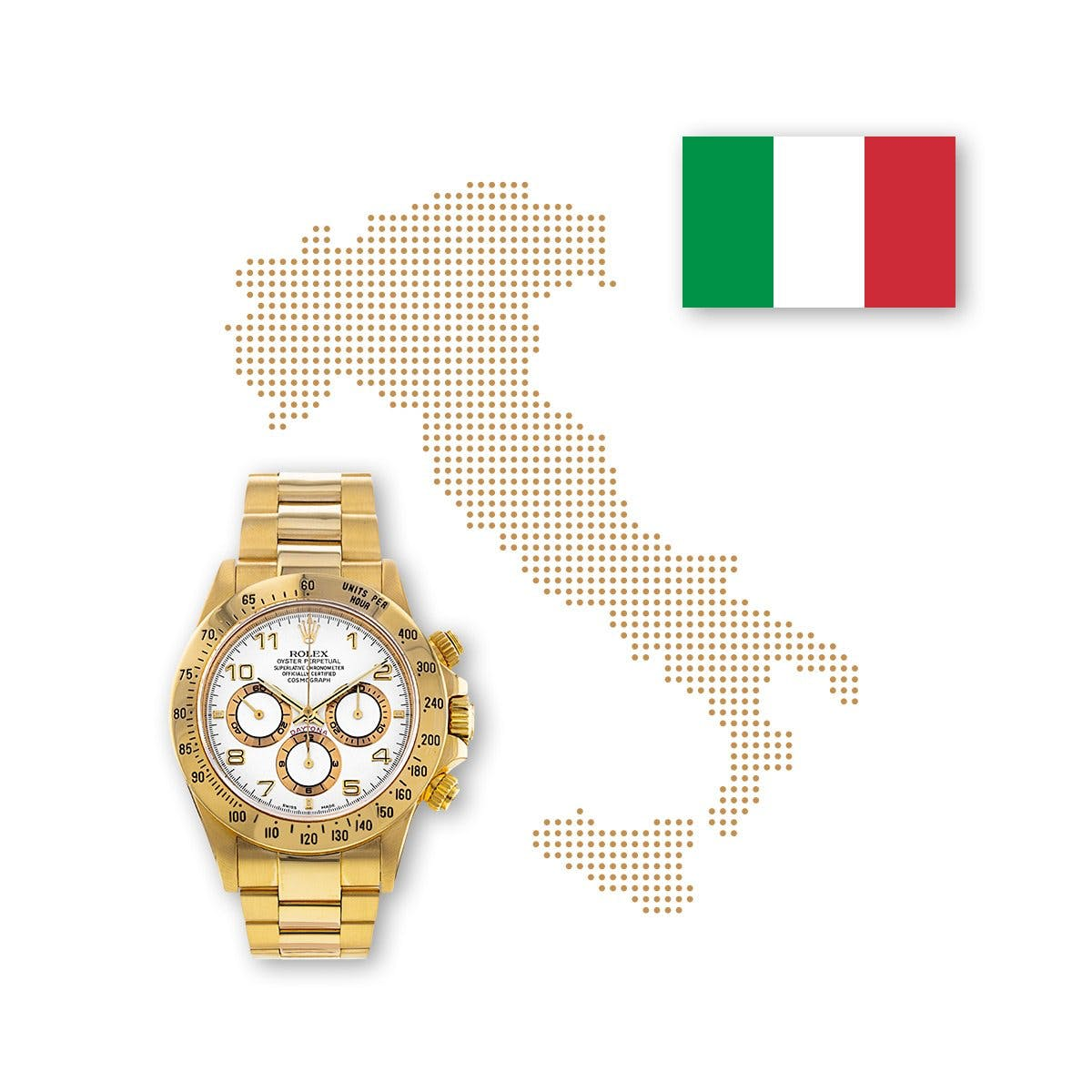 Rolex's reign continues unabated in Italy.
