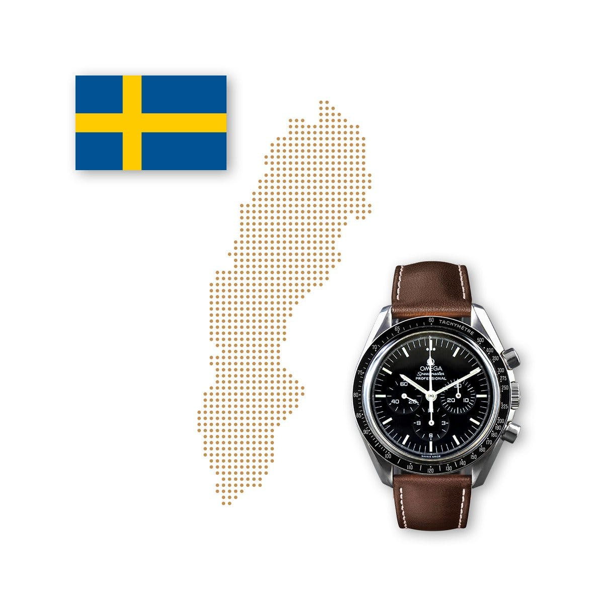 In Sweden, Omega is closer to Rolex in the watch rankings than in other countries.